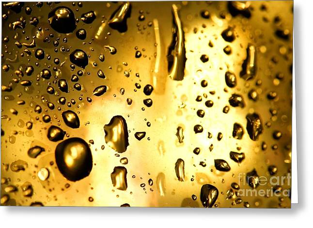 Abstract Rain Greeting Cards - Droplets Greeting Card by Peter Gudella