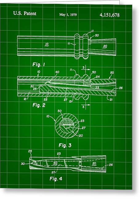 Millionaire. Greeting Cards - Duck Call Patent 1979 - Green Greeting Card by Stephen Younts