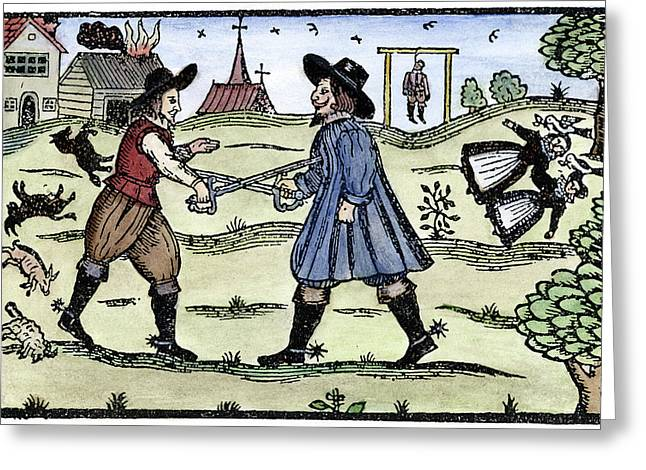 Dueling, 1595 Greeting Card by Granger