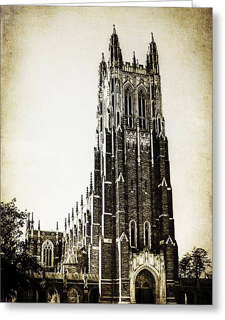 Duke Greeting Cards - Duke Chapel Greeting Card by Emily Kay