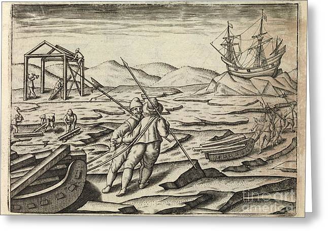 Het Greeting Cards - Dutch Northeast Arctic Expedition, 1596-7 Greeting Card by Middle Temple Library