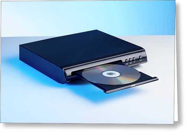 Dvd Player Greeting Card by Science Photo Library