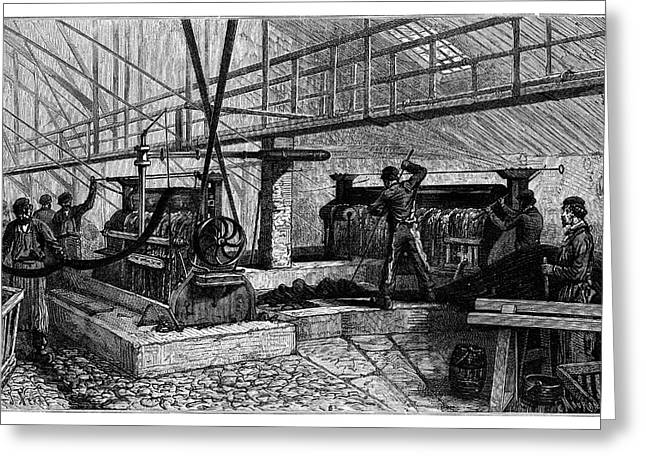 Dyeing Industry Greeting Card by Science Photo Library