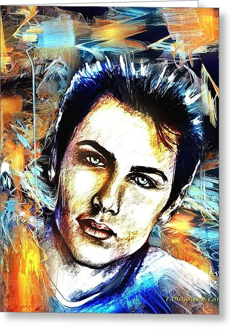 Abstract Digital Mixed Media Greeting Cards - Dylan Greeting Card by Francoise Dugourd-Caput