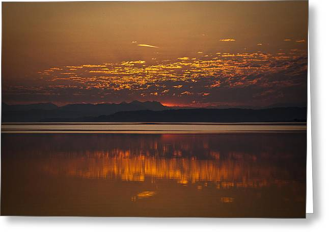 Framed Whidbey Prints Greeting Cards - Early Morning Calm Greeting Card by Ron Roberts