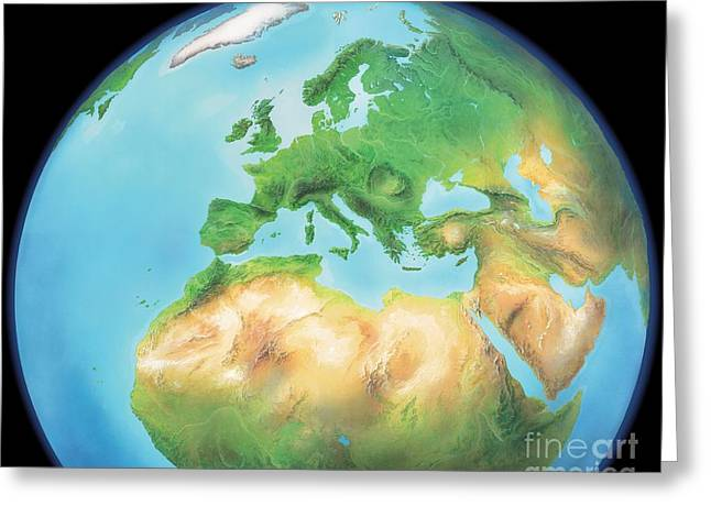 Northern Africa Greeting Cards - Earth, Artwork Greeting Card by Gary Hincks