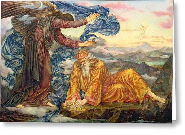 Morality Greeting Cards - Earthbound Greeting Card by Evelyn De Morgan
