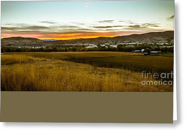 East End Of Emmett Valley Greeting Card by Robert Bales
