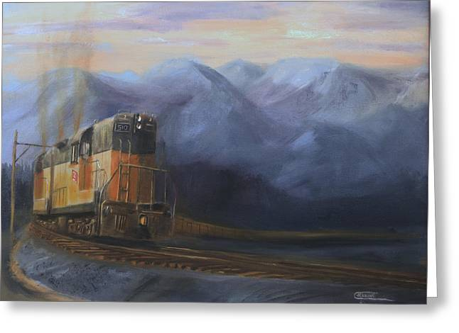 Diesel Locomotives Greeting Cards - East of the Belt Range Greeting Card by Christopher Jenkins
