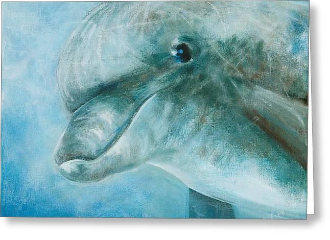 Sea Lions Greeting Cards - Easy Swim Greeting Card by Christine  Fifer