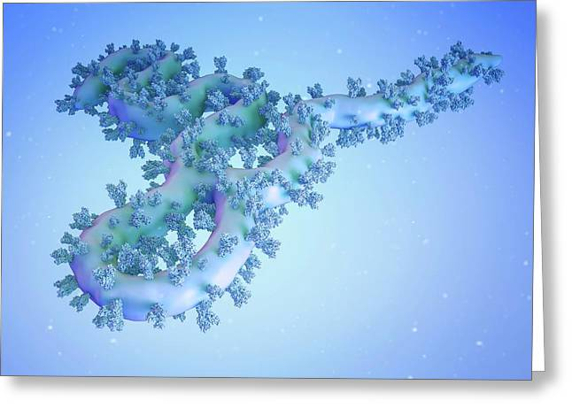 Ebola Virus Particle Greeting Card by Maurizio De Angelis