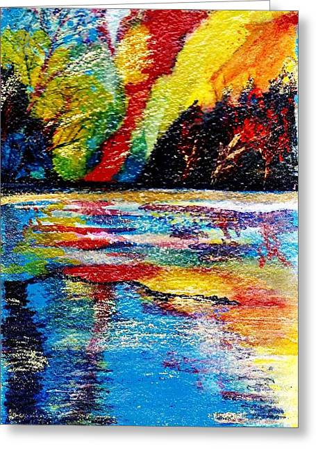 Anne-elizabeth Whiteway Greeting Cards - Echo Lake Revisited Greeting Card by Anne-Elizabeth Whiteway