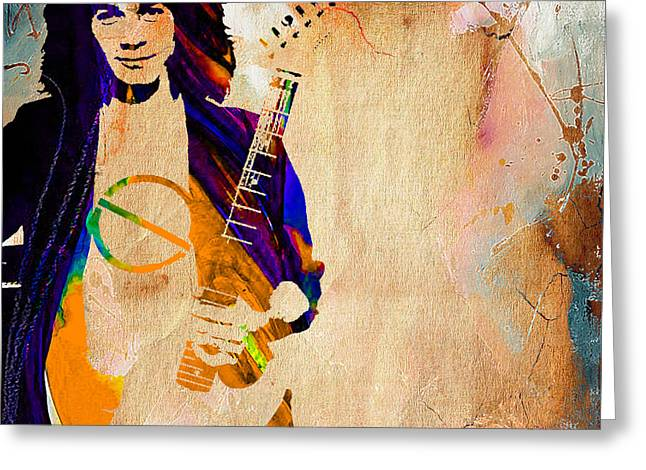 Eddie Van Halen Collection Greeting Card by Marvin Blaine