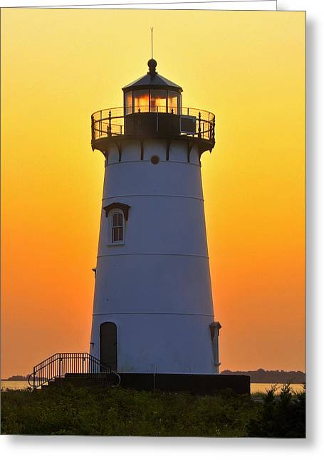 Edgartown Light Greeting Card by Dan Myers