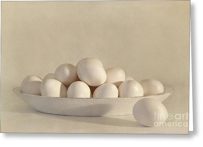 Tabletop Greeting Cards - Eggs Greeting Card by Priska Wettstein