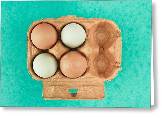 Diversity Photographs Greeting Cards - Eggs Greeting Card by Tom Gowanlock