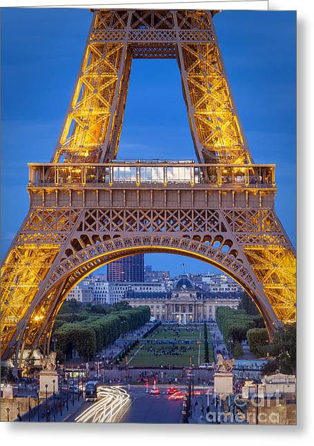 Eifel-tower Greeting Cards - Eiffel tower at Twilight Greeting Card by Brian Jannsen