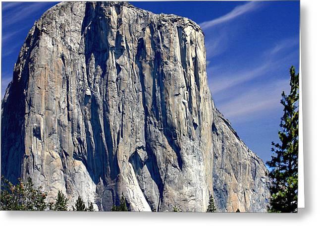 Cathedral Rock Greeting Cards - El Capitan Yosemite National Park Greeting Card by  Bob and Nadine Johnston
