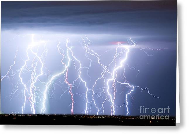 Lightning Bolt Pictures Greeting Cards - Electric Skies Greeting Card by James BO  Insogna