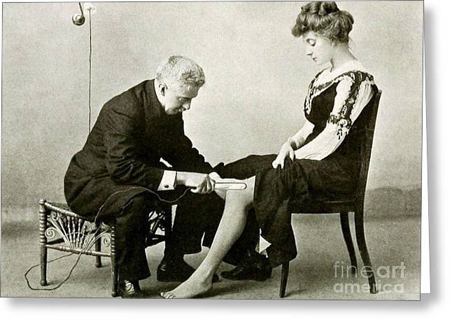 Therapy Greeting Cards - Electro-therapeutics, 1910 Greeting Card by Science Source