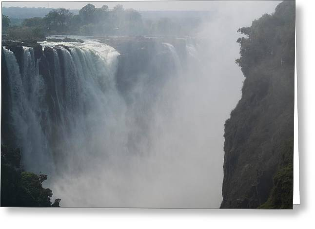 Elevated View Of Waterfall, Devils Greeting Card by Panoramic Images