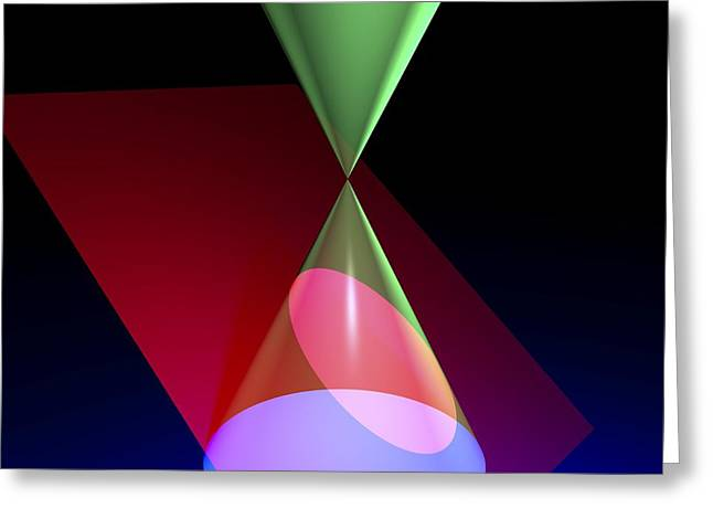 Geometric Artwork Greeting Cards - Ellipse, Artwork Greeting Card by Russell Kightley