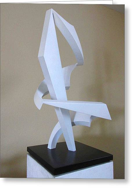 Pieces Sculptures Greeting Cards - Embrace  Greeting Card by John Neumann
