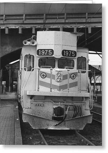 """rail Siding"" Greeting Cards - EMD GM6C 1975 at Harrisburg Greeting Card by Homer Hill"