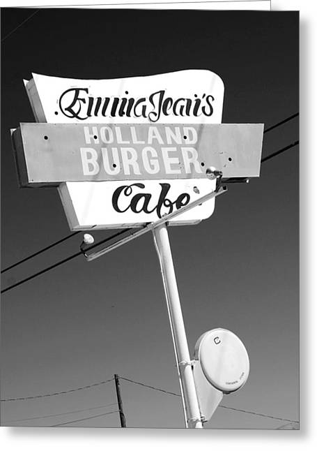 Hamburger Greeting Cards - Emma Jeans Greeting Card by Charlette Miller