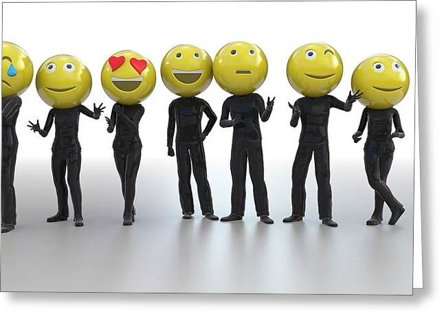 Emojis Greeting Card by Christian Darkin