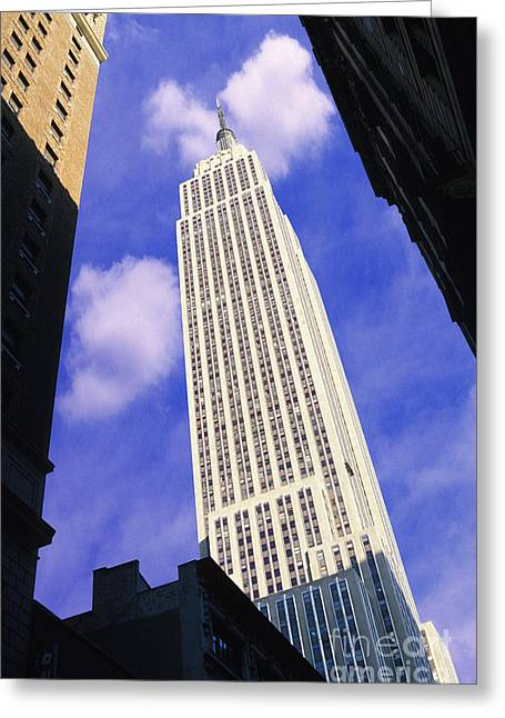 Nyc Mixed Media Greeting Cards - Empire State Building Greeting Card by Jon Neidert