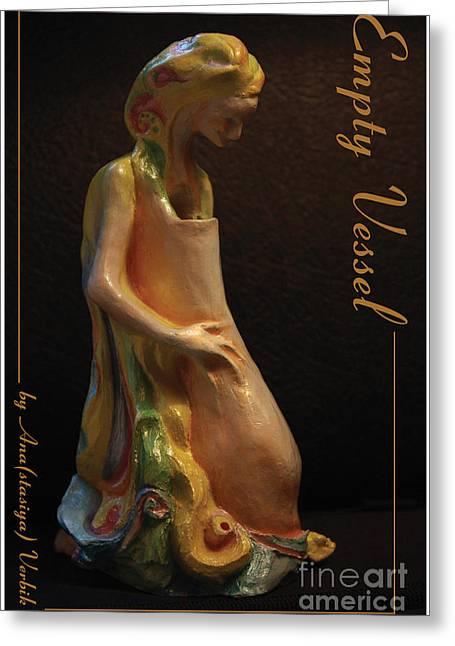Virgin Sculptures Greeting Cards - Empty Vessel Greeting Card by Anastasiya Verbik