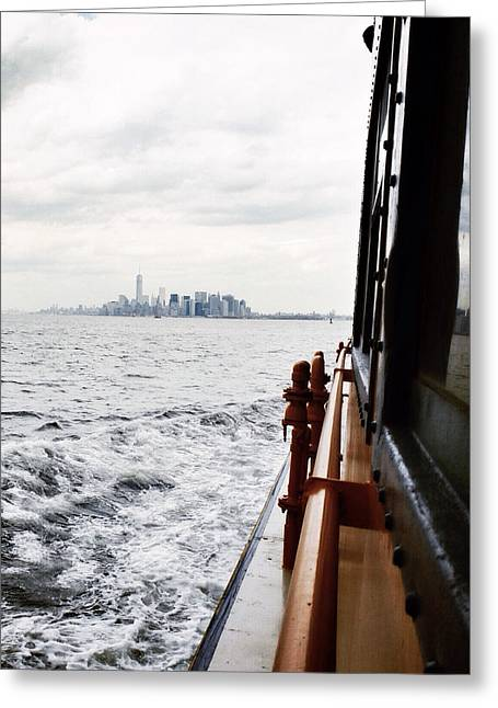 Staten Island Ferry Greeting Cards - En Route Greeting Card by Natasha Marco