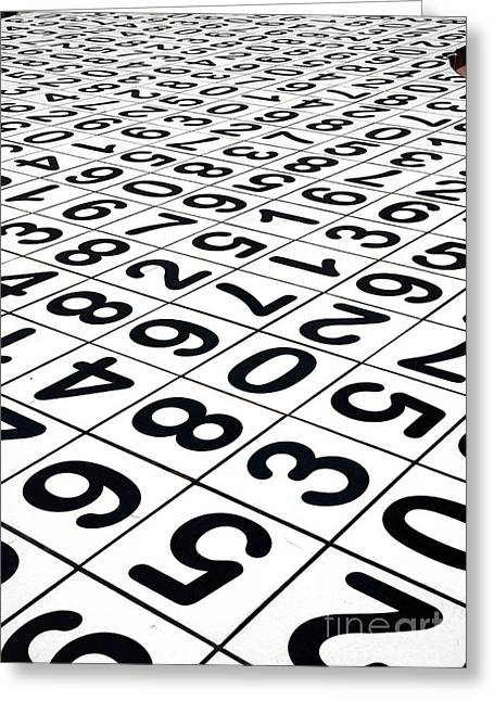 Scuplture Greeting Cards - Endless Numbers Greeting Card by Amy Cicconi