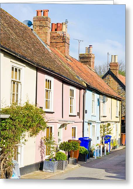 Spring Street Greeting Cards - English cottages Greeting Card by Tom Gowanlock