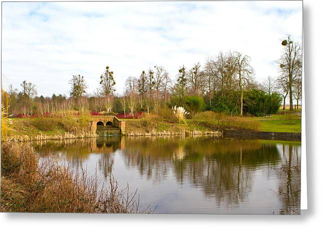 English Countryside Scene On A Cold Winter Day Greeting Card by Fizzy Image