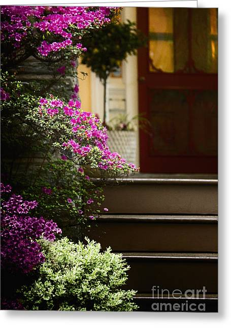 Entrance Door Greeting Cards - Entrance Greeting Card by Margie Hurwich