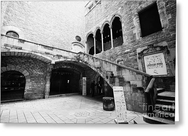 Museu Greeting Cards - Entrance To Museu Historia History Museum Barcelona Catalonia Spain Greeting Card by Joe Fox