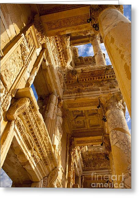 Library Of Celsus Greeting Cards - Ephesus Greeting Card by Brian Jannsen