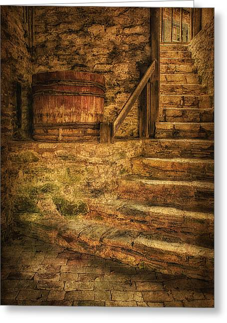 18th Century Greeting Cards - Below  the Ephrata Cloister Bake House Greeting Card by Priscilla Burgers