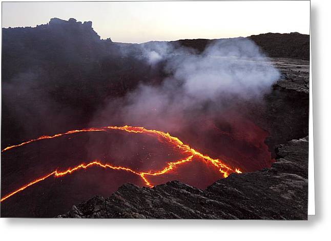 21st Greeting Cards - Erta Ale volcano, Congo Greeting Card by Science Photo Library