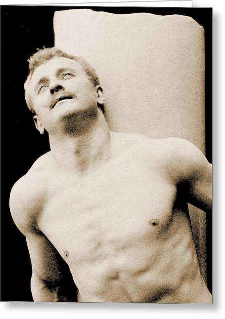 Male Athlete Greeting Cards - Eugen Sandow Greeting Card by George Steckel