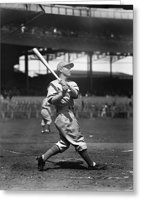 Baseball Bat Greeting Cards - Eugene Gene Moore, Jr. Greeting Card by Retro Images Archive