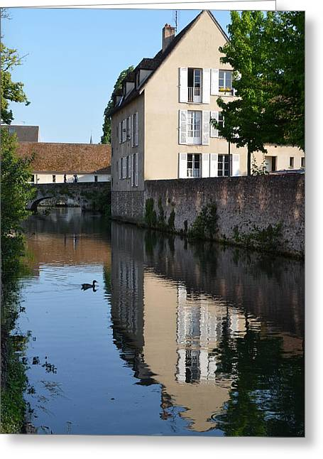 Eure Greeting Cards - Eure river in Chartres Greeting Card by RicardMN Photography