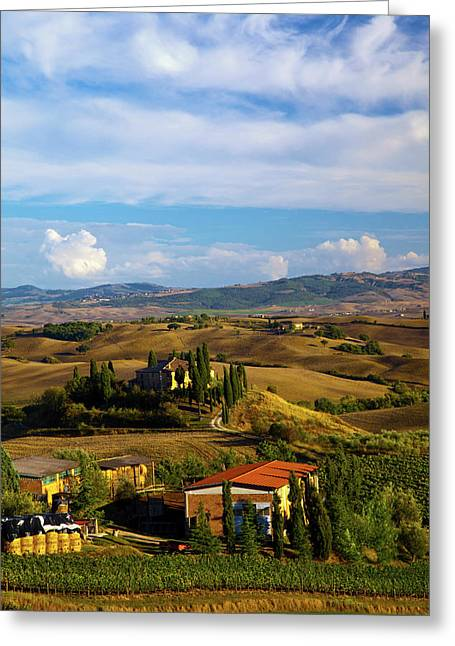 Europe, Italy, Tuscany, San Quirico Greeting Card by Terry Eggers
