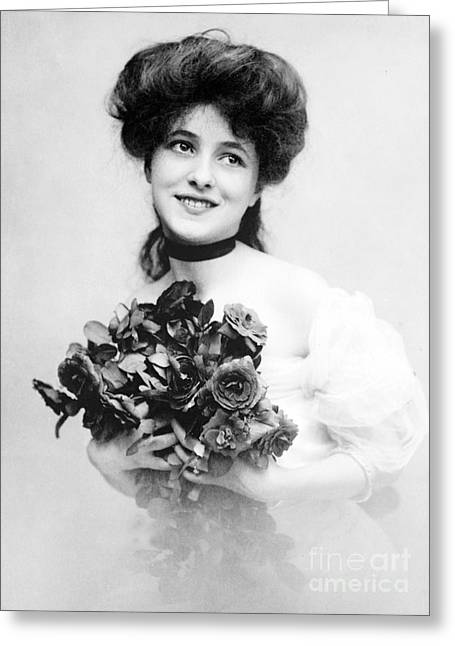 Artists Model Greeting Cards - Evelyn Nesbit, American Model Greeting Card by Science Source