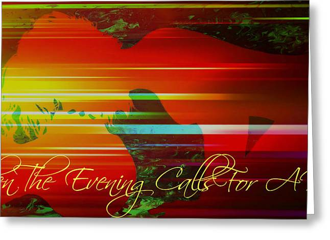 Passionate Touch Greeting Cards - Evening Kiss Greeting Card by Cyryn Fyrcyd
