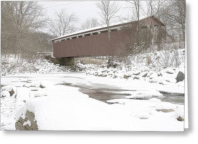Cvnp Greeting Cards - Everett Covered Bridge  Greeting Card by Jack R Perry