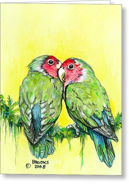 Brook Mixed Media Greeting Cards - Everything is Just Peachy Greeting Card by Richard Brooks