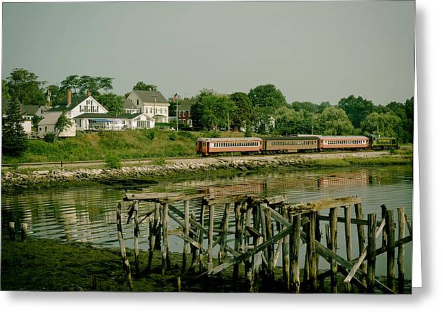 Shore Excursion Greeting Cards - Excursion Train in Wiscasset Maine Greeting Card by Mountain Dreams